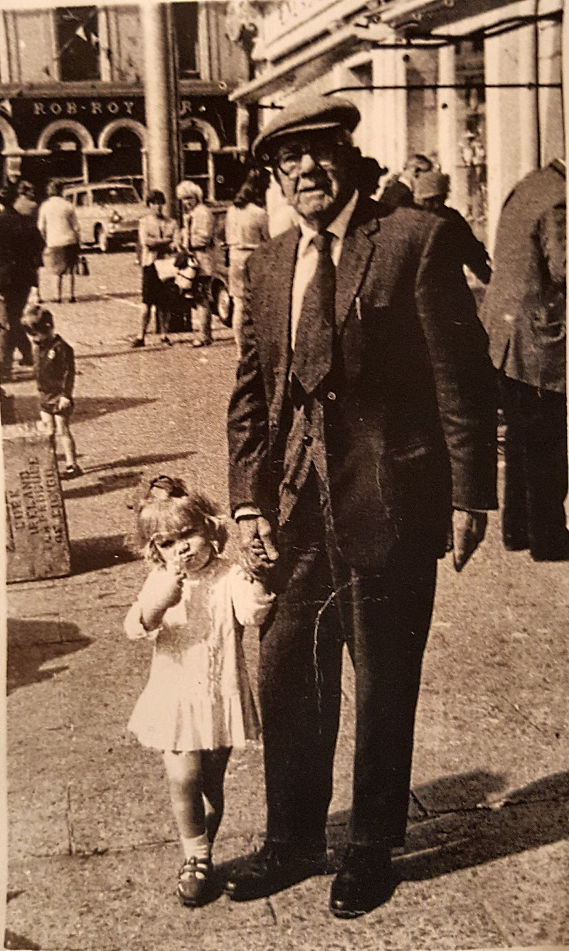 Jack Flanagan and granddaughter Carol