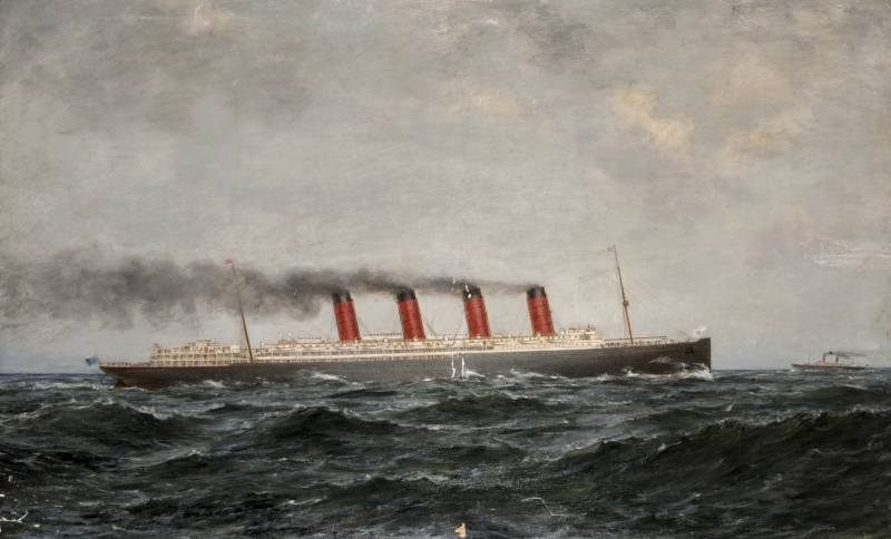 Lusitania Painting - Copyright CSG CIC Glasgow Museums and Libraries Collections